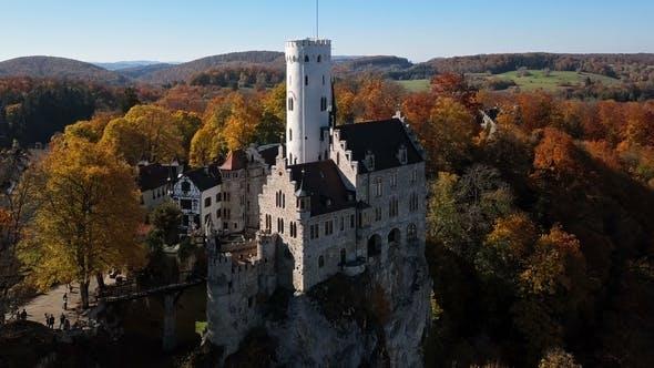 Thumbnail for Flight Around Lichtenstein Castle, Germany.
