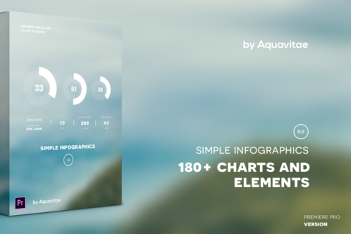 8 Infographics Video Templates Compatible with Adobe