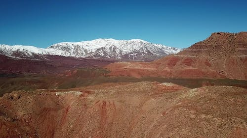 Aerial Landscape of Atlas Mountains in Morocco
