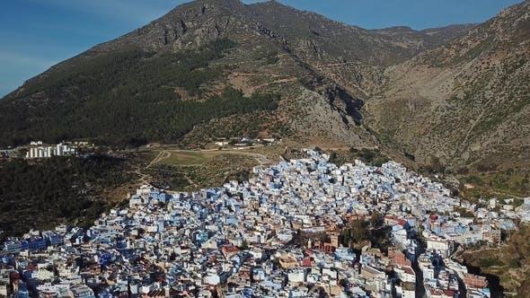 Thumbnail for Luftaufnahme von Medina Blue Old City Chefchaouen