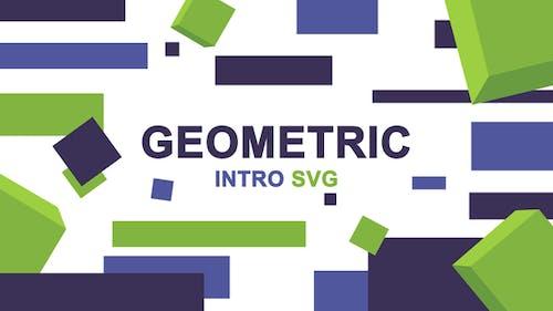 Geometric Logo Intro SVG