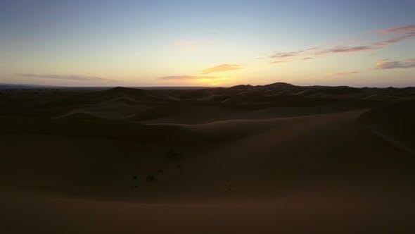 Thumbnail for Landscape in Sahara Desert at Sunrise