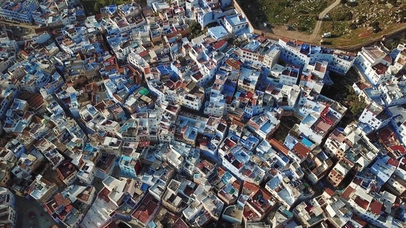 Thumbnail for Blick auf Medina Blue Old City Chefchaouen