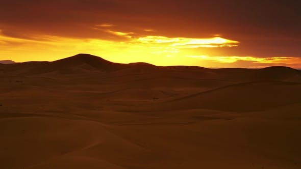 Thumbnail for Landscape in Sahara Desert at Sunset