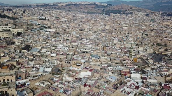 Thumbnail for Luftaufnahme der alten Medina in Fes, Marokko