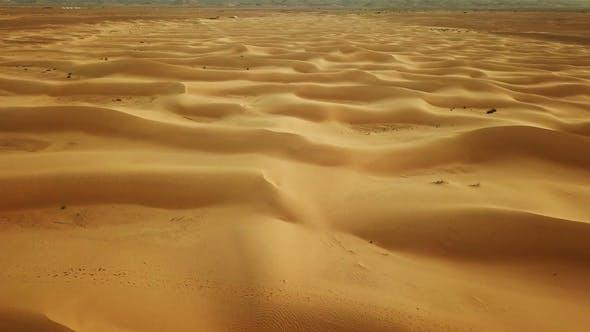 Thumbnail for Flying Over Sand Dunes in Sahara Desert To Sun
