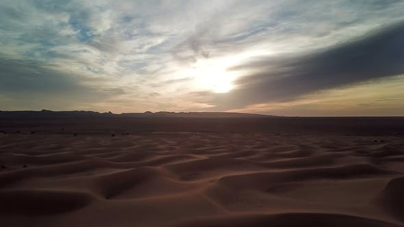 Thumbnail for BeaUtiful Landscape in Sahara Desert at Sunset