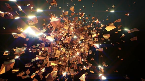 Thumbnail for Glitter Golden Shards