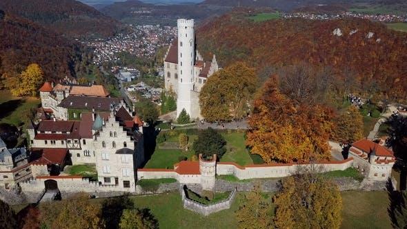 Thumbnail for Flight Around Lichtenstein Castle, Germany