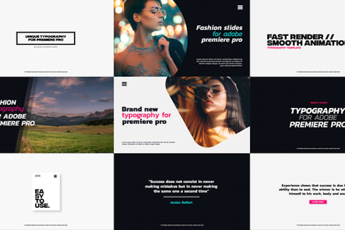 Download 343 Titles Video Templates Compatible with Adobe