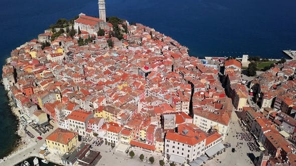 Thumbnail for Aerial Panorama of Rovinj, Croatia
