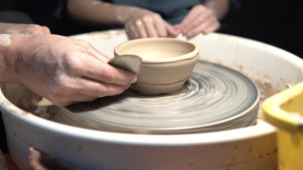 Thumbnail for Work with Clay on a Potter's Wheel