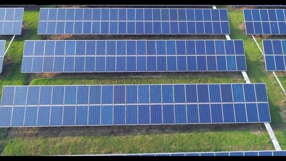 Thumbnail for Aerial View of Solar Energy Panels, Solar Panels, Solar Power Plants.