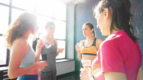 Thumbnail for Group of Women After Training Drink Water