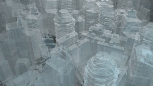 Technology Buildings Hologram