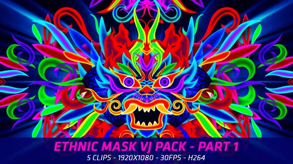Thumbnail for Ethnic Mask VJ Packs