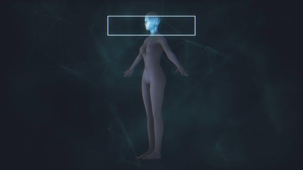 X-Ray Female Body Scan