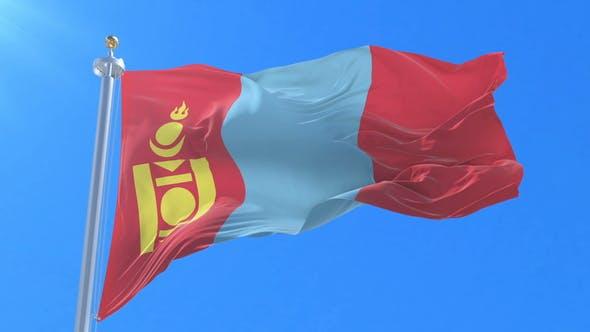 Flag of Mongolia Waving