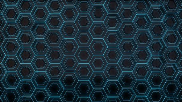 Thumbnail for Futuristic Blue Hexagons