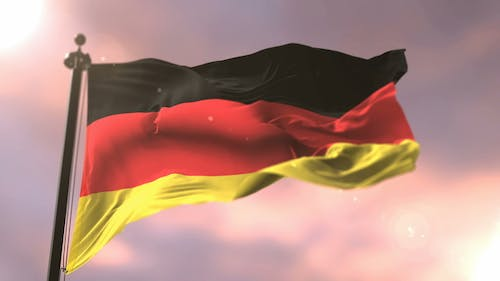 Germany Flag at Sunset