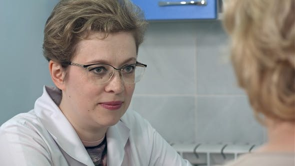Thumbnail for Doctor Explaining Diagnosis To Her Female Patient