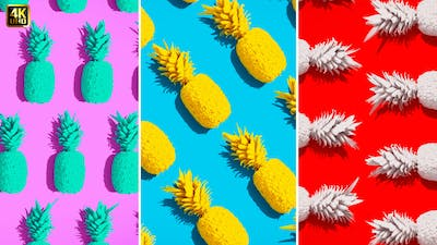 Summer Backgrounds   Pineapple Flat Lay