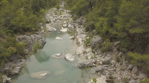Thumbnail for Aerial Footage of the Mountain Lake