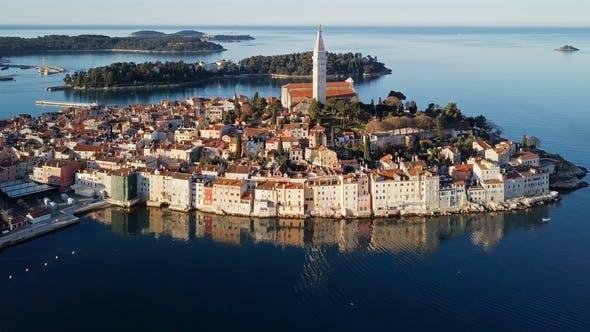 Thumbnail for Aerial View of Rovinj, Istria, Croatia.