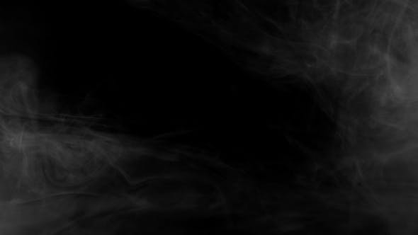 Seamless Motion of Smoke on a Black Background, Smoke Atmosphere