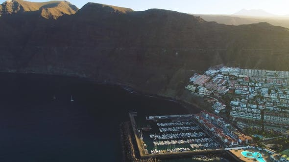 Thumbnail for Flight Over Los Gigantes City at Tenerife