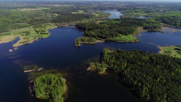 Thumbnail for Beautiful Lake Aerial View