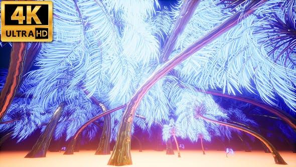 Thumbnail for Light Palm Trees 4k