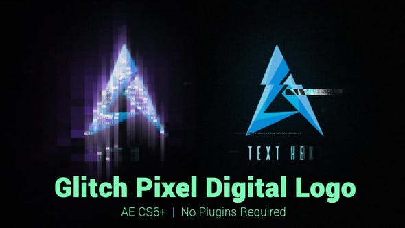 Glitch Pixel Digital Logo