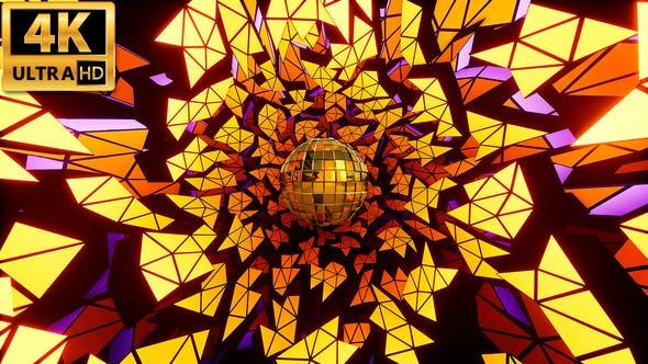 Thumbnail for Gold Disco Ball 4k