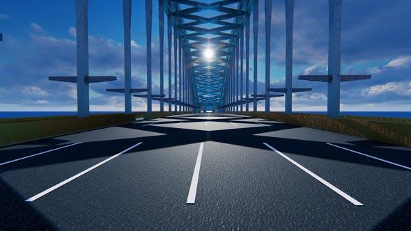 Bewegen Sie sich auf der Brücke