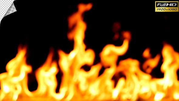 Thumbnail for Out of Focus Realistic Fire Line in Super Slow Motion - Alpha Channel