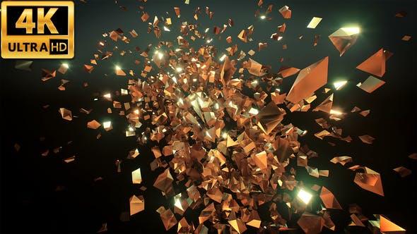 Thumbnail for Glitter Golden Shards 4k