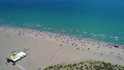 Italy, the Beach of the Adriatic Sea. Rest on the Sea Near Venice.