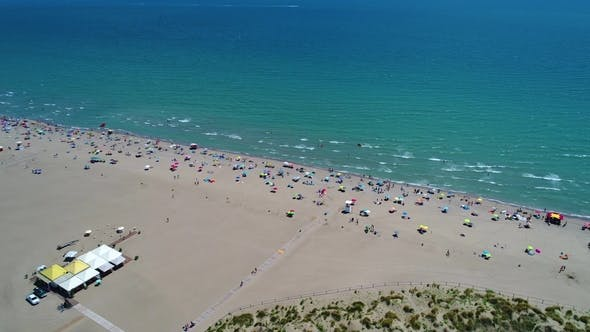 Thumbnail for Italy, the Beach of the Adriatic Sea. Rest on the Sea Near Venice.