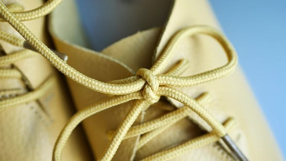 Thumbnail for Stylish Yellow Leather Footwear or Oxford Shoes with Laces