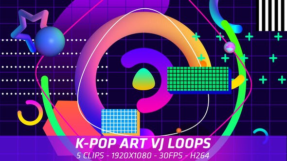 Cover Image for K-Pop Art VJ Loops