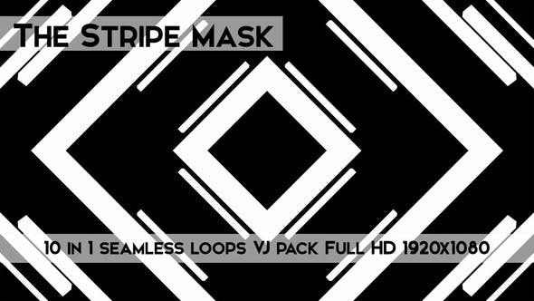 Thumbnail for The Stripe Mask Vj Loops Pack