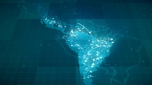 Globalization Latin America Map HD