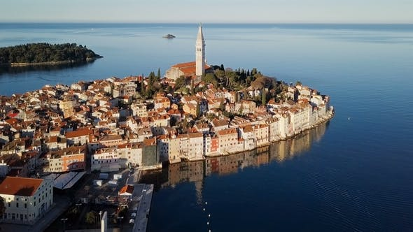 Cover Image for Aerial View of Rovinj, Istria, Croatia.
