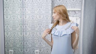 Pretty Female in Dressing Room