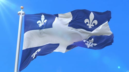 Flag of Canadian Province of Quebec
