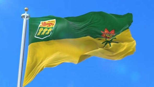 Flag of Canadian Province of Saskatchewan