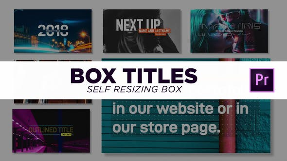 Box Titles - Self Resizing