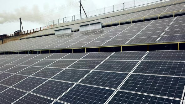 Thumbnail for Solar Panels. Power Station. Blue Solar Panels. Solar Farm. Source of Ecological Renewable Energy.