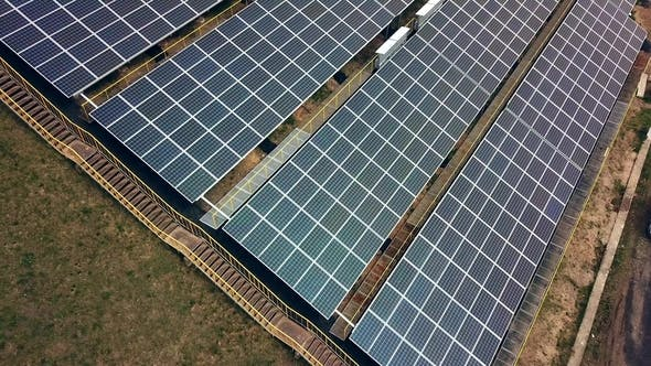 Thumbnail for Aerial View of Solar Panels. Solar Power Plant. Source of Ecological Renewable Energy.